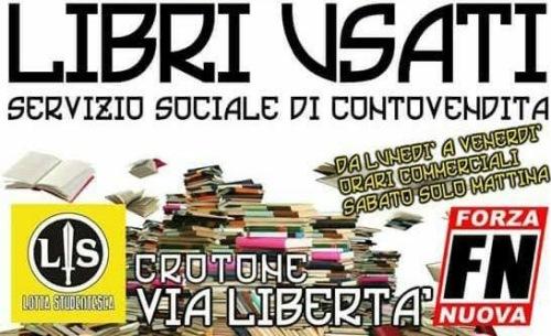 Crotone forza nuova organizza il conto vendita libri for Libri scolastici usati on line