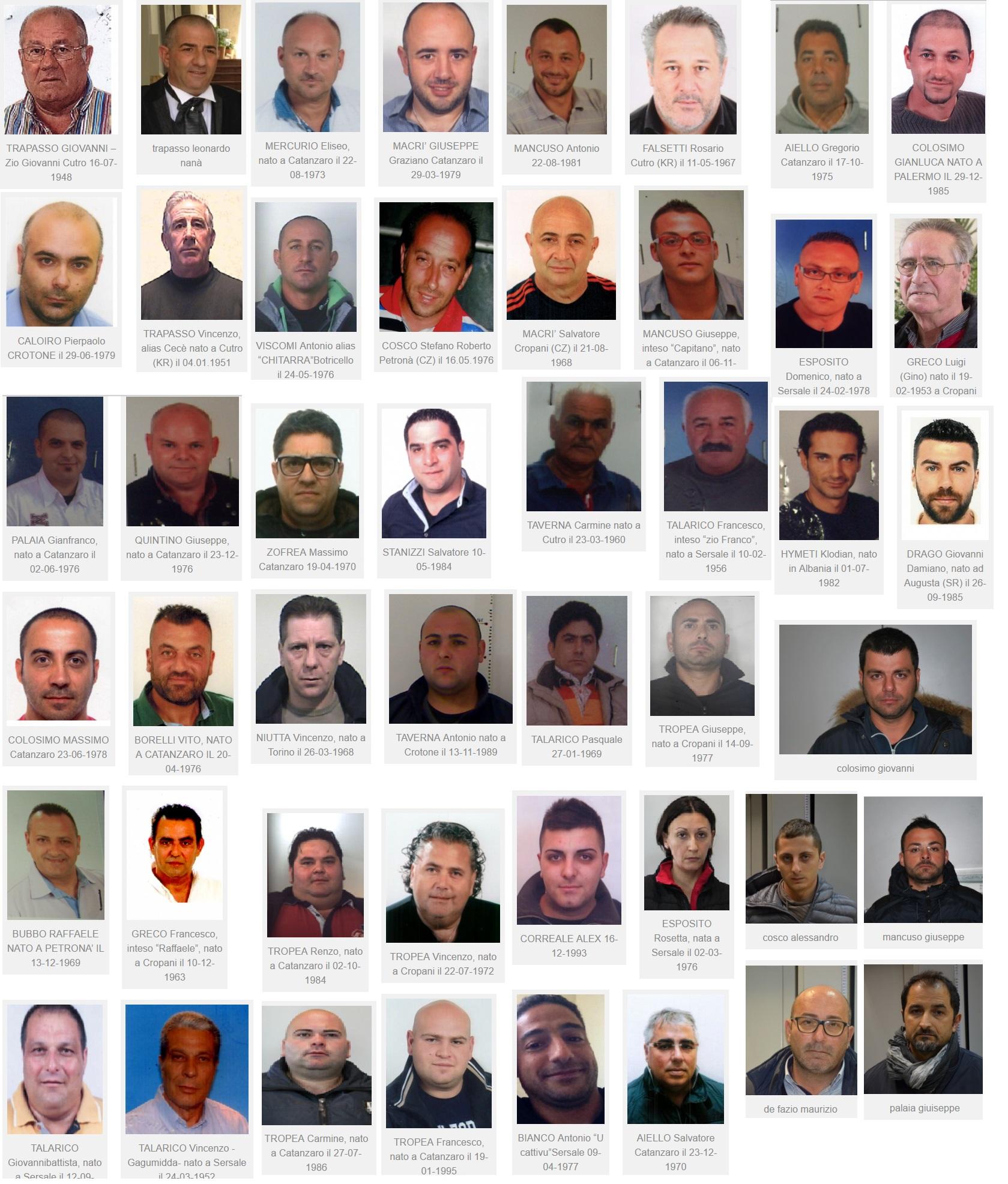 Operazione Borderland Nomi E Foto Dei 48 Arrestati In Calabria