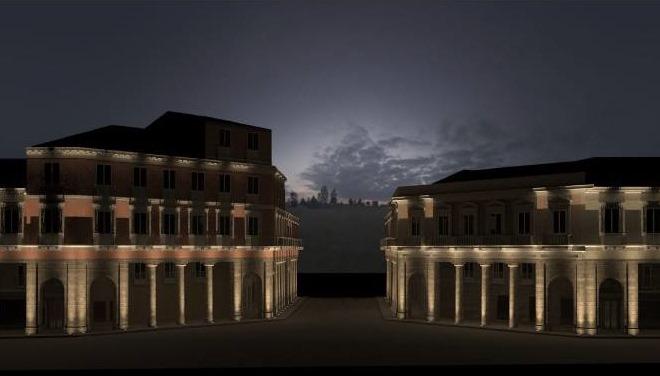 Nuova illuminazione per i portici di piazza pitagora presto il